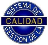 logotipo azul de calidad